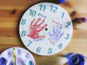 Hand Print Clock
