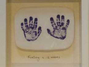 Purple Hand Print