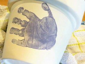 Hand Printed Plant Pot