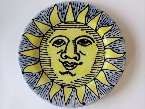 Pottery Sun Plate